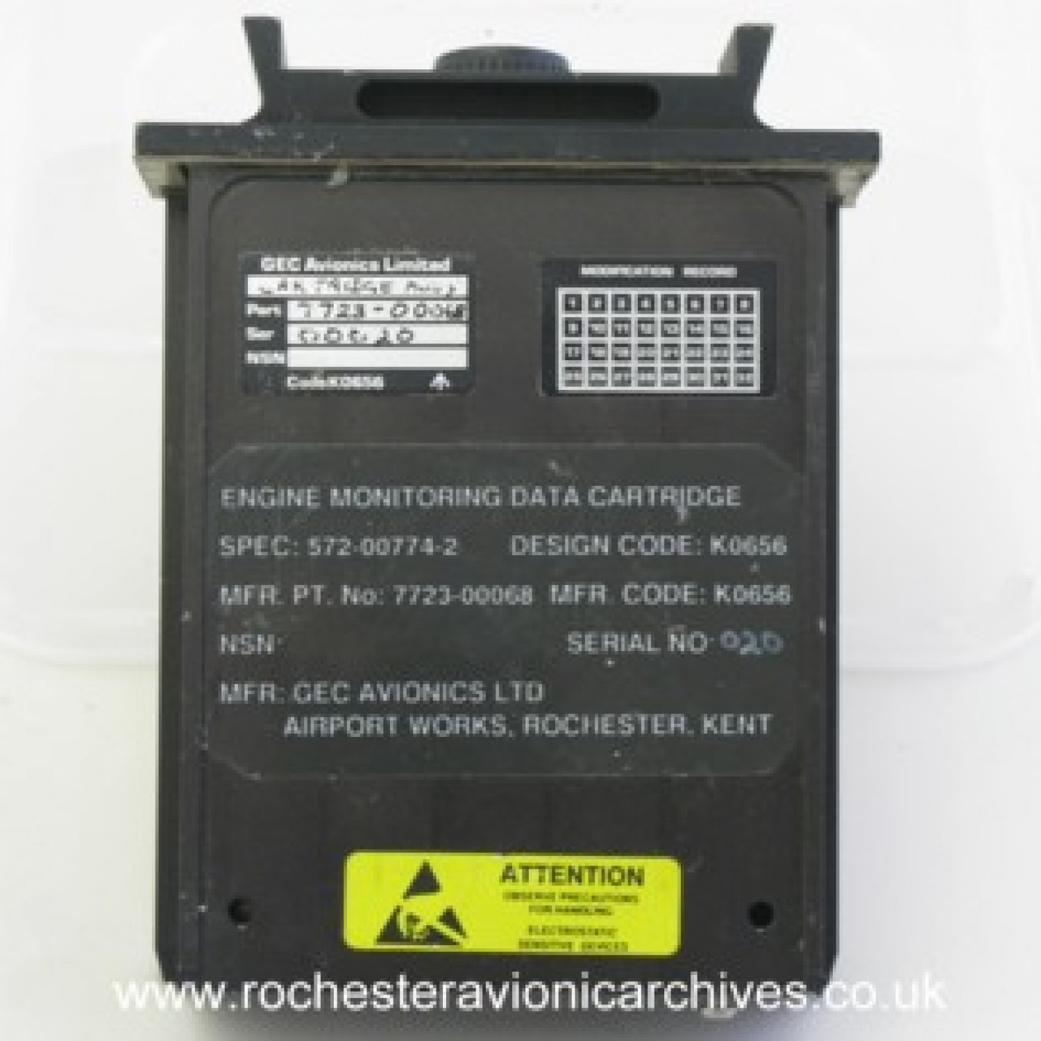 Engine Monitoring Data Cartridge