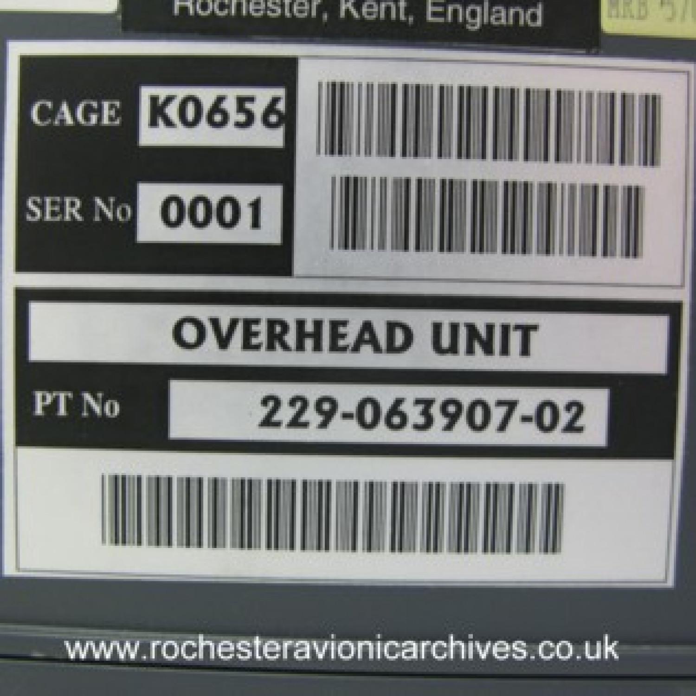 Gulfstream HUD Overhead Unit