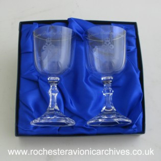 Queen's Award Crystal Glasses