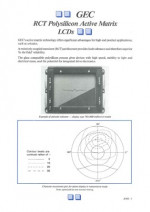GEC RCT Polysilicon Active Matrix LCDs