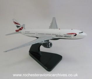 Boeing 777 model in British Airways livery