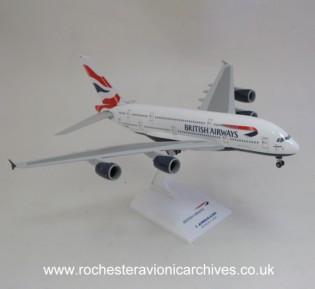 Airbus 380 model in British Airways livery