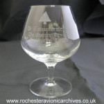Commemoration Brandy Glass
