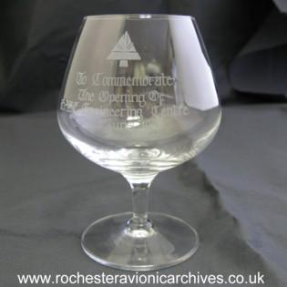 Commemoration Brandy Glass