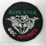 Cats Eyes Sew-On Badge