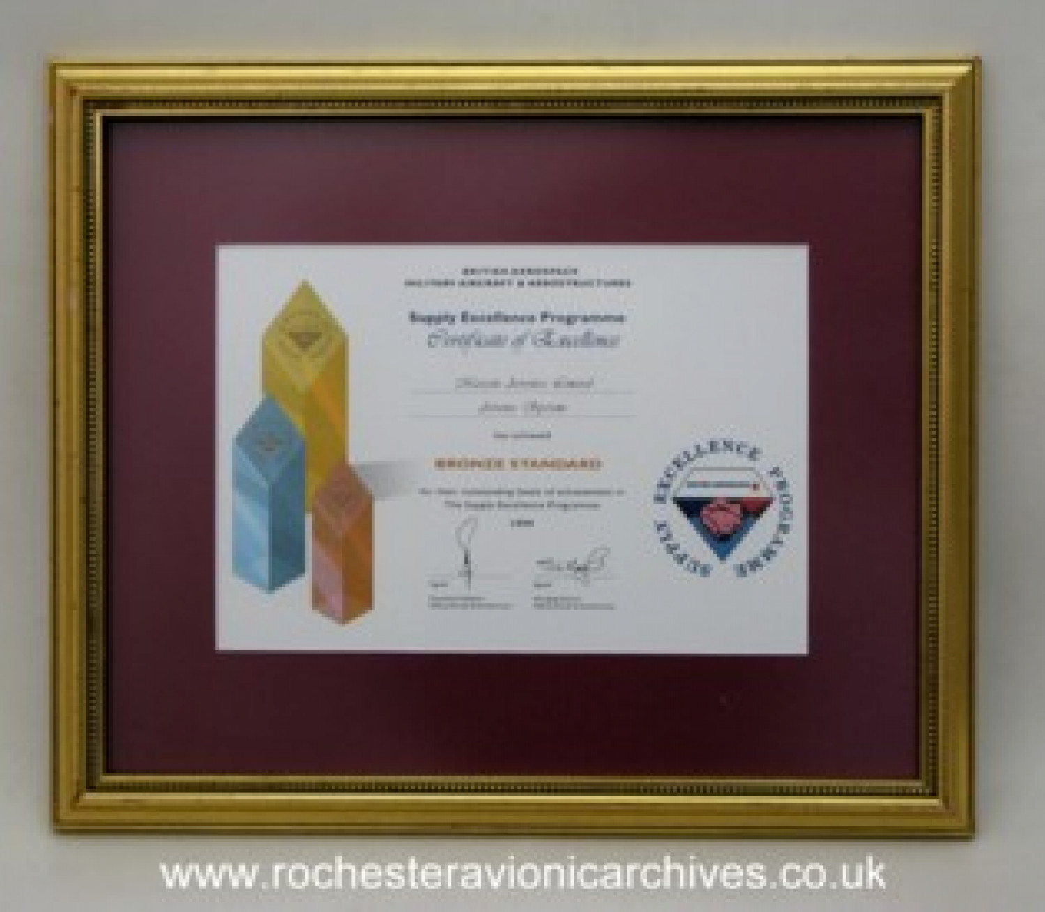 Award to Marconi Avionics from British Aerospace 1999