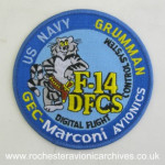 F-14 DFCS Sew-On Badge