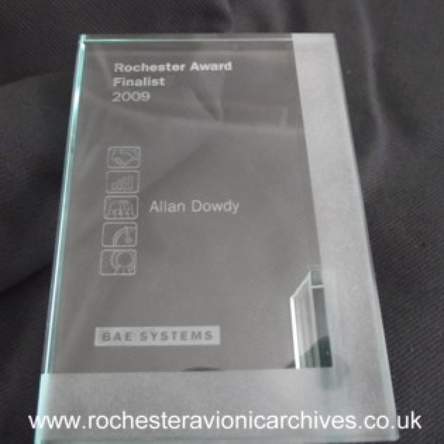 Glass Award Plaque